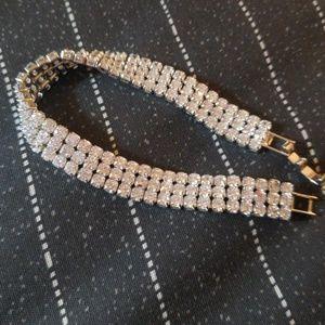 Beautiful Fine White Sapphire Tennis Bracelet
